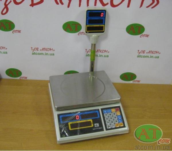 Ваги торгові електронні ВТЕ-Центровес-15Т2-ДВ
