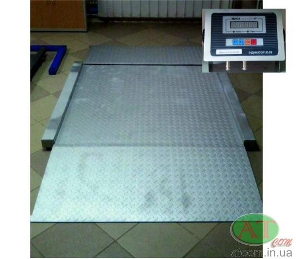Наездные весы нержавеющие электронные ВН
