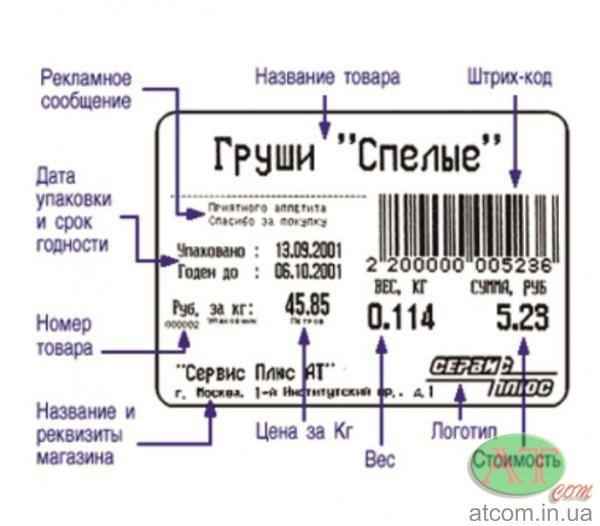 Ваги з друком етикетки Штрих-ПРИНТ М 15-2.5 Д1И1